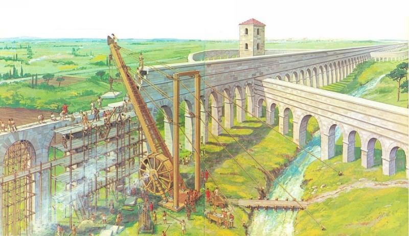Roman Aqueducts Tools And Scaffolding