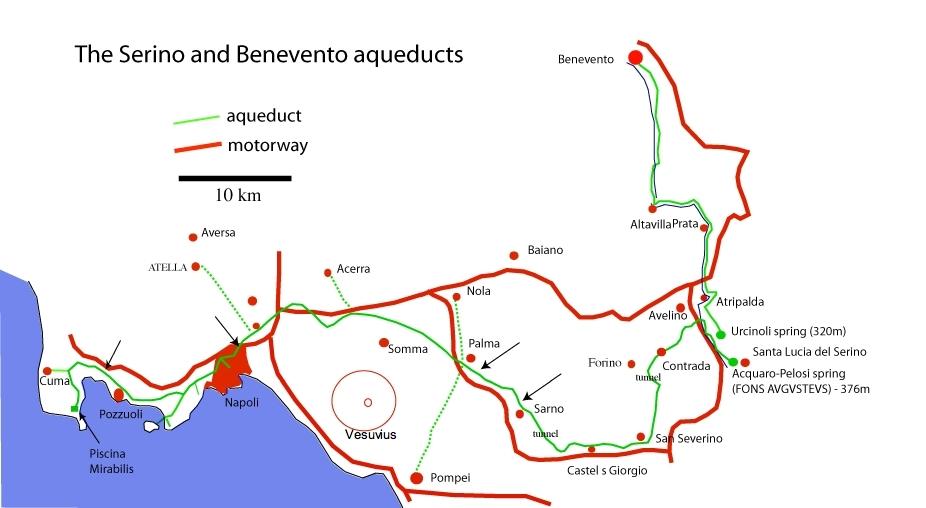 Roman aqueducts Aqua Augusta Serino aqueduct Italy