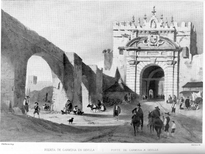 Puerta de carmona with aqueduct - Puerta de sevilla carmona ...