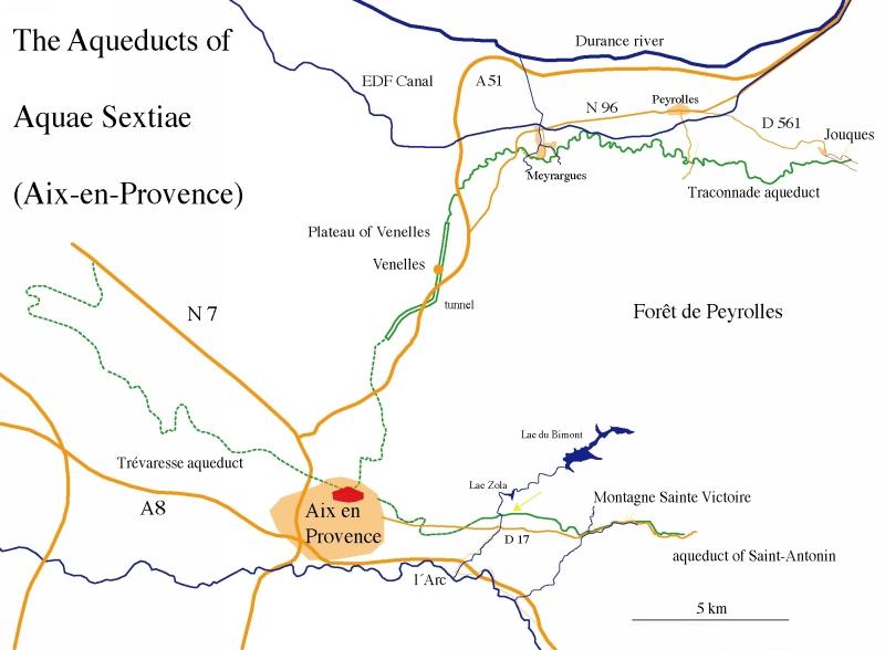 Roman aqueducts AixenProvence France