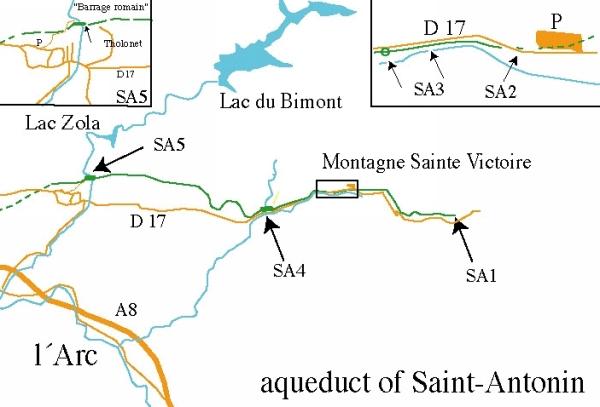 aquae sextiae map